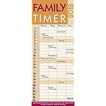 Family Timer Lifestyle 2018: Familientimer mit Ferienterminen und Vorschau bis März 2019