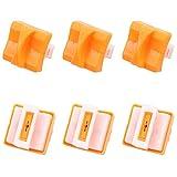 SelfTek Lot de 6 lames de rechange pour coupe-papier A4 Noir et blanc Orange