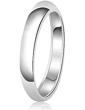 3mm Klassische Sterling Silber Ehering Schlicht Ring
