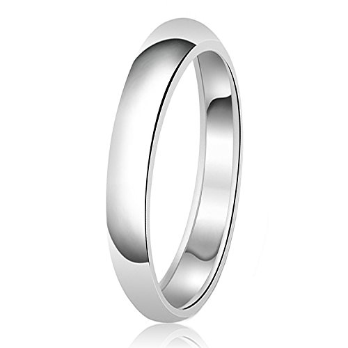 3mm Klassische Sterling Silber Ehering Schlicht Ring, Größe 50 (15.9) (3 Mm Ehering)