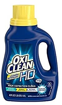 OxiClean HD liquid Laundry Detergent Sparkling Fresh, 26 Loads 40.0 oz.(2pack)