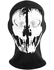 ECYC Skull Face Balaclava Cotton Full Face Cycling Skiing Winter Sports Mask Warm Neck