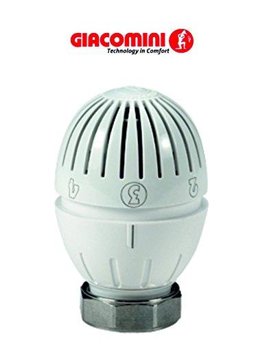 Giacomini R470H Valvola termostatica con liquido sensore, posizione con protezione antigelo, con anello filettato. Collegamento M30X 1,5mm