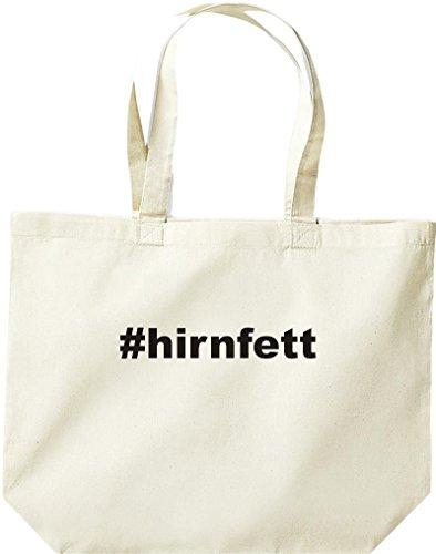 Grande Tote Bag Shirtstown, Hashtag Shopper # Il Grasso Del Cervello È La Natura