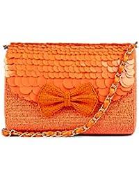 Nitya Biswas Women's Sling Bag (Orange)