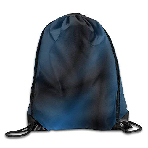 Deep Ocean Themed Dark Blue Colored Design with Reflections of Light Drawstring Gym Sack Sport Bag for Men and Women -