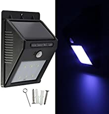 Okayji Weather Resistant 12 LED Motion Sensor Solar Light, Black