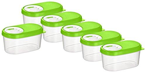 Haushaltsdose Gewürzdosen Schüttdosen Streudosen Vorratsdosen 0,14l 6er Set grün