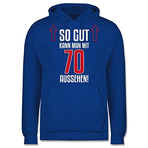 Geburtstag - So gut kann man mit 70 aussehen - Männer Premium  Kapuzenpullover / Hoodie Royalblau