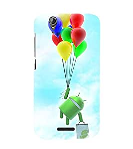 Printvisa Premium Back Cover Cartoon Hanging On Multicoloured Baloons Design For Acer Liquid Z630