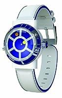 Reloj Star Wars STAR139 de cuarzo para hombre con correa de piel, color blanco de Character Watches