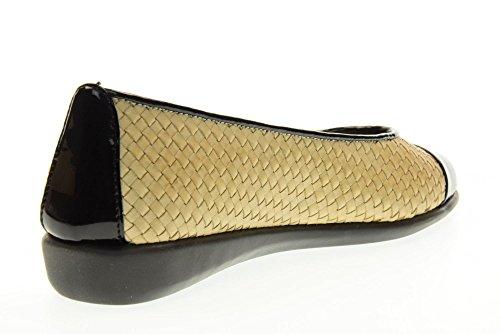 THE FLEXX Chaussures femme ballerine 2101/78 RISE souriiez SAND / NOIR Sabbia / Nero