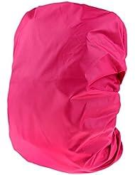 Fenteer Impermeable Cubierta de Mochila Bolsa Perfecto para Vajar Acampar Escalar Practicar senderismo - Rosado, 80L