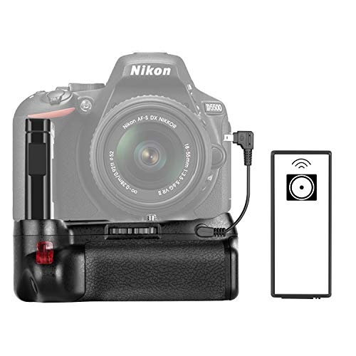 Neewer Professioneller vertikaler Batteriegriff funktioniert mit EN-EL14a Wiederaufladbare-Akku für Nikon D5500 DSLR-Kamera (Batterie nicht enthalten)
