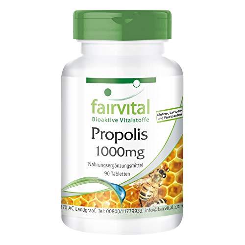 Bienen Propolis 1000mg - Natürliches Bienenharz Extrakt - Mit 3% Galangin - HOCHDOSIERT - 90 Tabletten