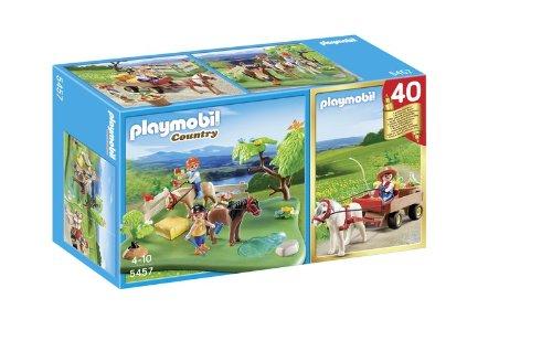 Playmobil 5457 -  Set Anniversario, Pony Al Pascolo e Calesse