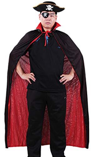 5ALL Halloween-Kostüm Vampir-Umhang mit Stehkragen Retro Zauberer Umhang -