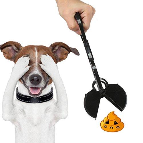 Bescita Dog Pet Pooper Scooper Poop Schaufel Sanitär Tonabnehmer Clean Pick Up Excreta Reiniger mit bequemen Griff (Schwarz)