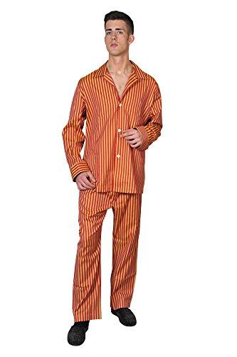 brioni-pajama-men-orange-cotton-striped