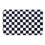 Funy Decor Rutschfeste Eingang Front Fußmatte Teppiche Schwarz und Weiß Gitter Wasseraufnahme-Fußmatte Fußmatte, Color 1, 15x23inch