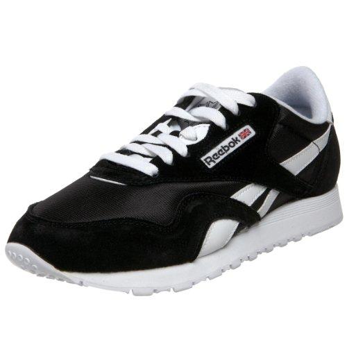 reebok-classic-nylon-sneakers-basses-femme-noir-noir-blanc-39-eu