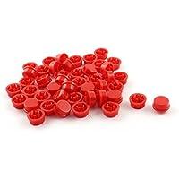 Portal Cool 45 unids botón rojo tapa para 12mmx12mmx7.3mm momentáneo interruptor táctil