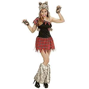 WIDMANN 02481Adultos Disfraz Wolf Lady, Vestido, Tocado y fingerlose Guantes