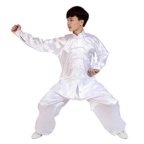 Deylaying Chinesisch Traditionell Tai Chi Kostüm - Unisex Kinder Erwachsene Kampfkunst Kung Fu Performance Uniform