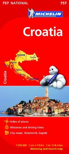 Croatia NATIONAL Map (Michelin National Map)