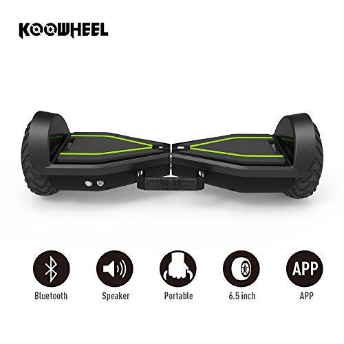 """KOOWHEEL Skateboard Elektrische, Hoverboard Bluetooth mit APP, Vorderlicht, Tragbar, 6,5 """""""