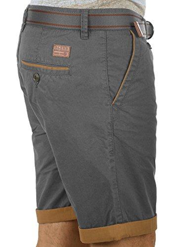 BLEND Neji Herren Shorts kurze Hose Basic-Shorts mit Gürtel aus 100% Baumwolle Granite (70147)