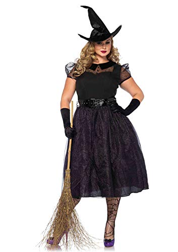 Avenue Leg Übergröße Kostüm - Leg Avenue Damen Kostüm Darling Spellcaster Hexe schwarz 3XL - 4XL Übergröße