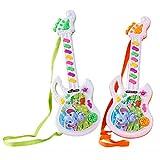 Koowaa Mini Jouet de Guitare électrique Jouet Musical pour Enfants Jouet Mignon de Guitare Jouets éducatifs pour Enfants Jouet Musical d'instruments de Musique Jouet pour Enfants garçons Filles
