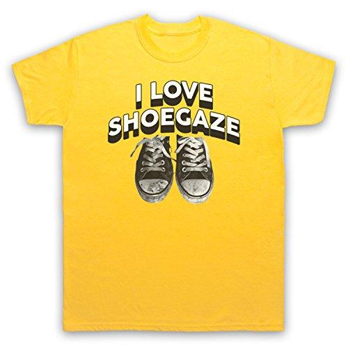 I Love Shoegaze Indie Alternative Rock Fan Herren T-Shirt Gelb