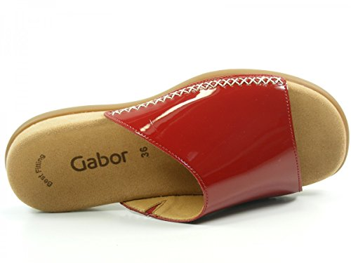 Gabor 43-705 Tongs femme Rouge