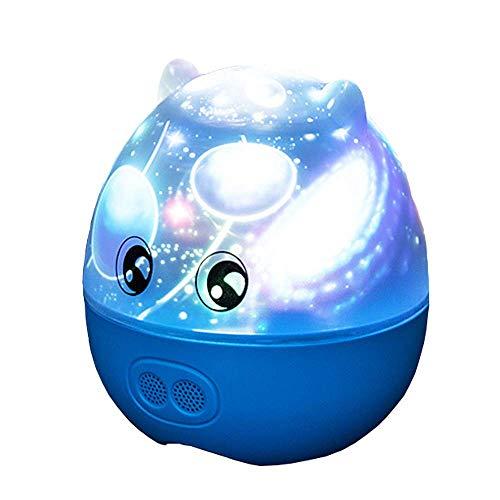 Pig Star Nachtlicht Projektor Lampe Timer Auto-Shut Off Music Player Kinderzimmer Dekor Nachttisch Lampen Kinder Geschenk Zum Geburtstag,Blue ()