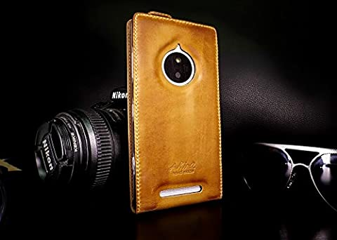 Original Akira Hand Made [Echt Leder] Handyhülle Lumia 830 Wallet Flip Cover Handgemacht Case Schutzhülle Etui Flip Wallet Pen [DEUTSCHER FACHHANDEL]