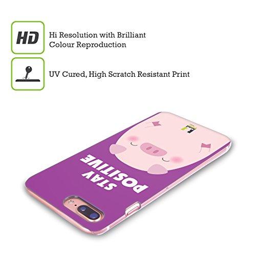 Head Case Designs Stay Positive Animali Felici Cover Retro Rigida per Apple iPhone X Stay Positive