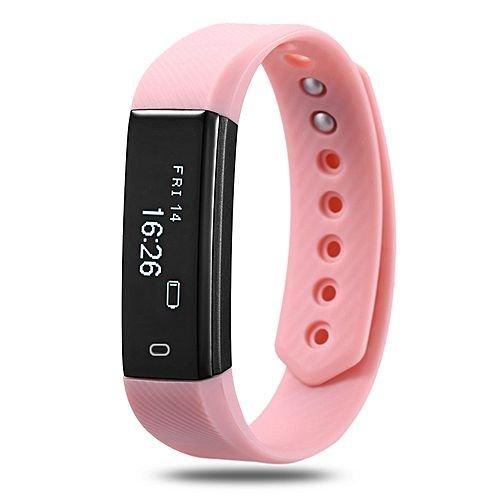 Torus Pro Very Fit Aktivitäts-Tracker und Fitnessuhr mit rosa Armband, inklusive Schrittzähler und Kalorienzähler. Dieses Fitness-Armband im Stil von Fitbit ist mit iPhones und Android-Smartphones kompatibel. Inklusive USB-Ladekabel und exklusivem Logo