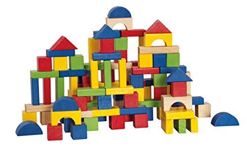 Blocchi woodyland bambino in un secchio con un tavolo modulo coperchio (100 pezzi)