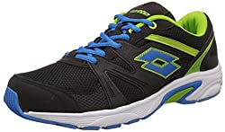 Lotto Mens Santana Black and Lime Mesh Running Shoes - 7 UK/India (41 EU)