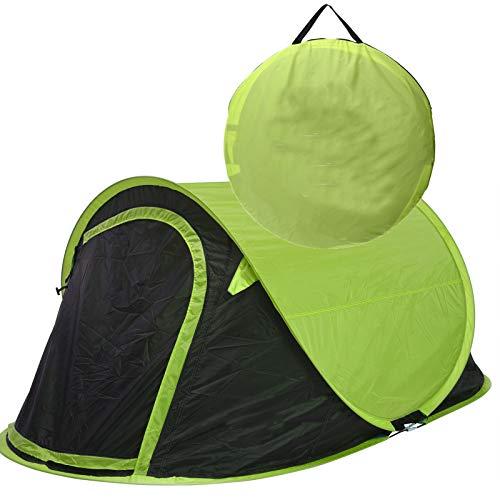 JEMIDI Zelt Pop Up Wurfzelt 2 Personen Festival Zelte Trekkingzelt Campingzelt Automatik Sekundenzelt Strand Strandzelt 220cm x 120cm x 95cm 2 Mann Popup Wurfzelte (Grün)