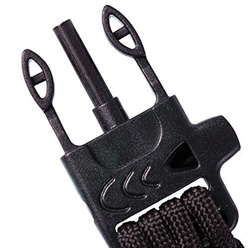 Imagen de zengbuks paracord pulsera supervivencia de emergencia kit de equipo militar con brújula de arranque brújula silbato y cuchillo  negro alternativa