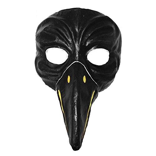 ske schwarz Handbemalte Masken aus Pappe Theater ()