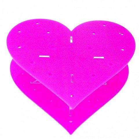 Super Cool Creations 20cm Durchmesser Acryl Cake Pop-Ständer, Herzform, Pink (Pink Cake Pop-ständer)