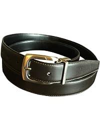 Perry Ellis Men's Reversible Leather Brown Black Dress Belt 38