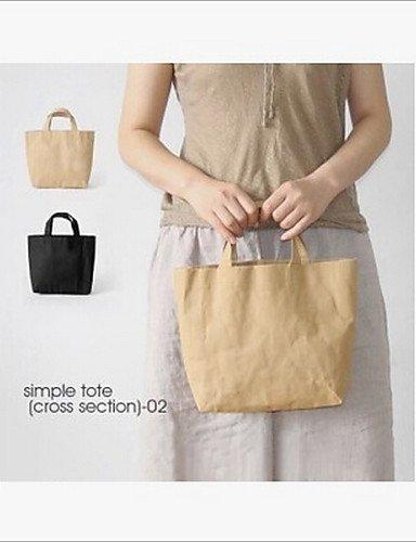 GXS Papier Tasche Hand waschbar Tasche klein Fresh einfach Damen Tasche Braun - braun