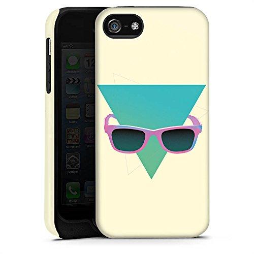 Apple iPhone X Silikon Hülle Case Schutzhülle Hipster Dreieck Sonnenbrille Tough Case matt