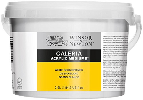 Winsor & Newton 3055948 Gesso Weiss, 2,5 Liter Eimer, Grundierung für die Leinwand, weiß