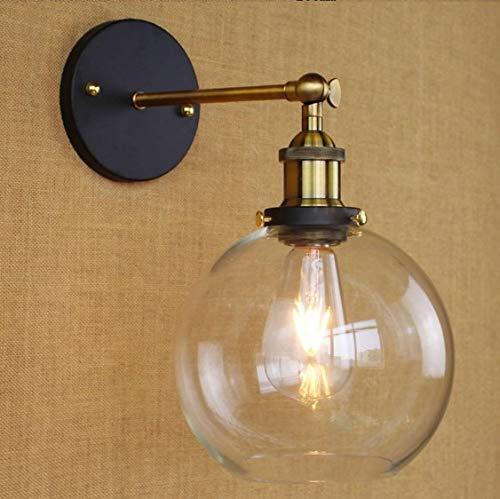 Loft Retro Vintage Lampe Industrielle Wandleuchten Glas Lampenschirm Arandela Aplik Edison Wandleuchte, 31-40W
